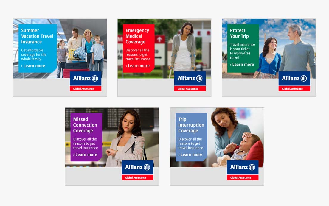 Banner Ads for Allianz Global Assistance