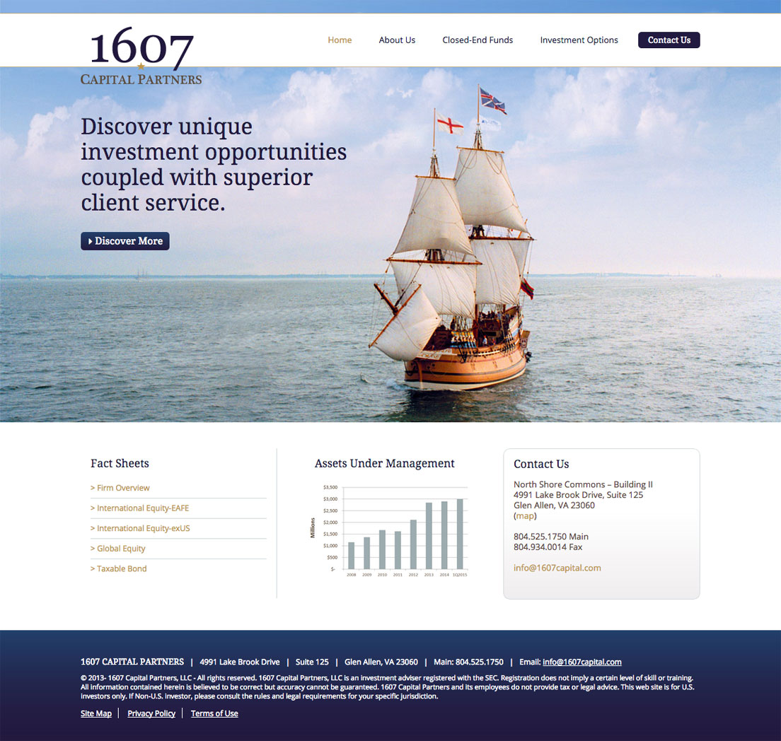 Website Design for 1607 Capital Partners