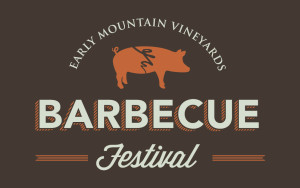 Early Mountain Vineyard's Barbeque Festival logo design