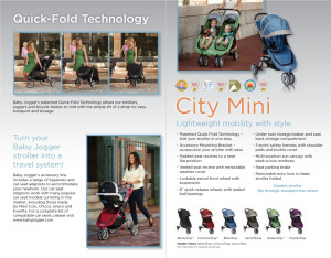Baby Jogger catalog inside spread