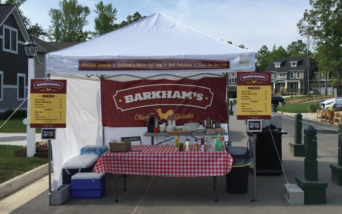 Food Tent Design for Barkhamu0027s Chicken Spiedie & Barkhams Food Tent Design | Randall Branding Agency