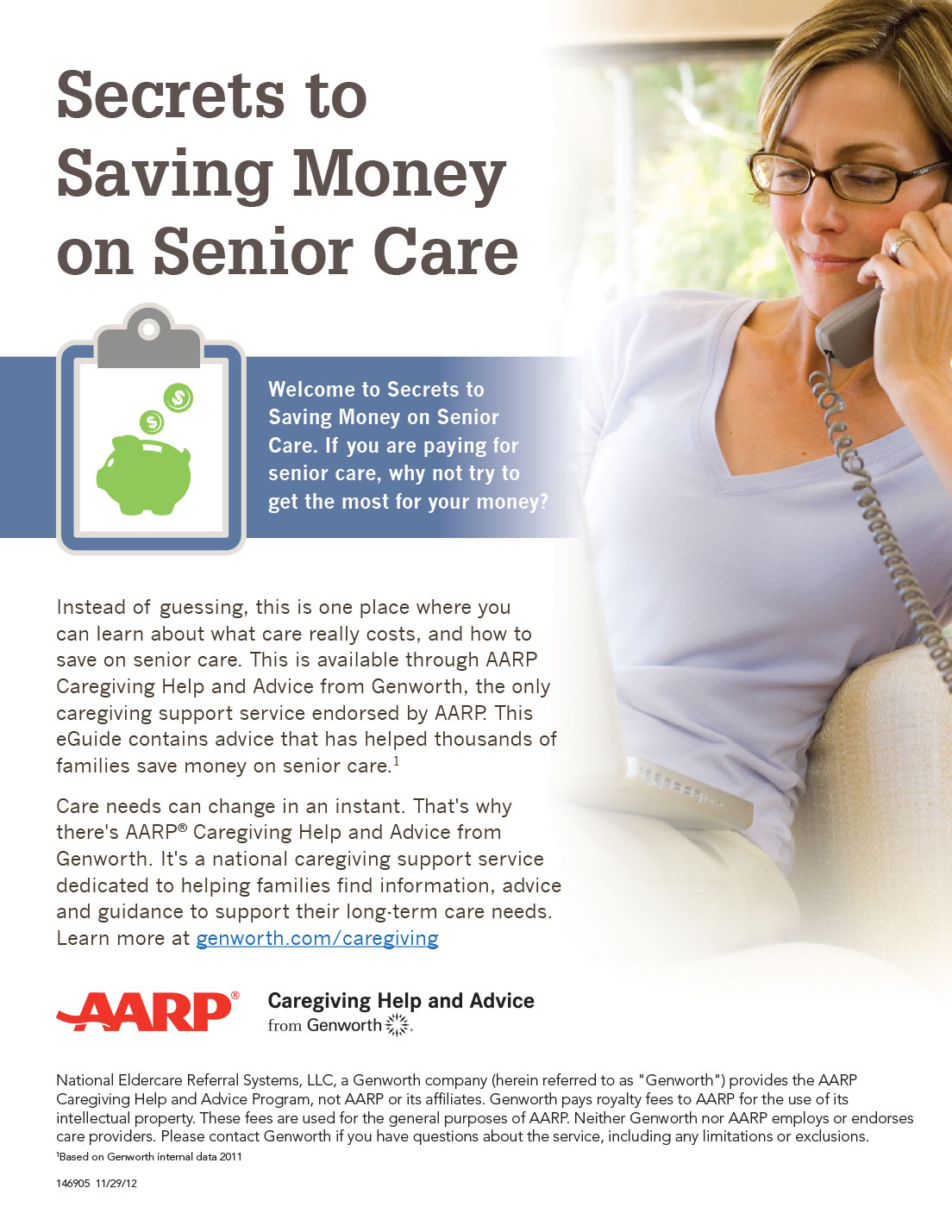 EGuide Design for AARP Caregiving Help And Advice From Genworth