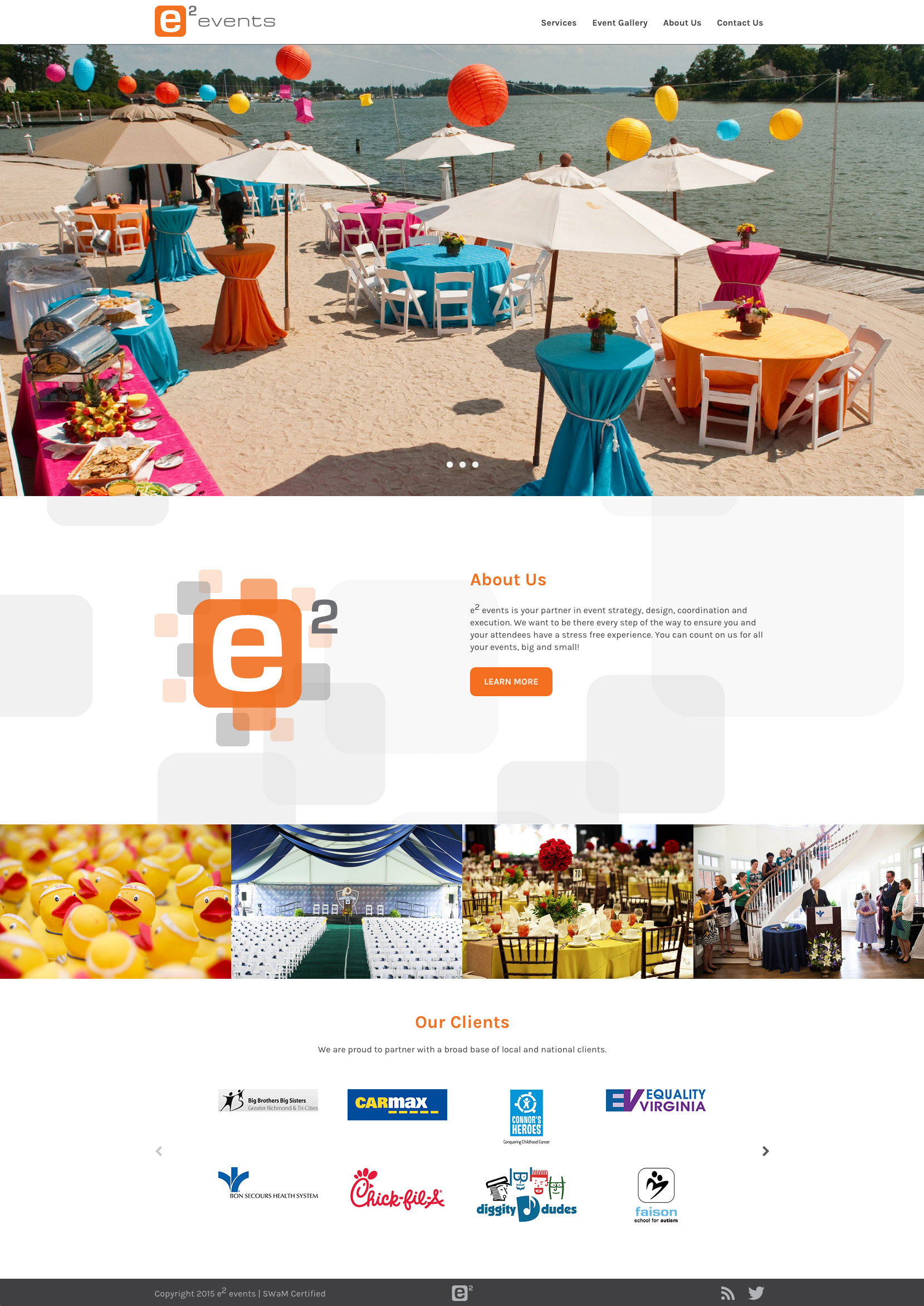 Website Design & Development for e2 Events