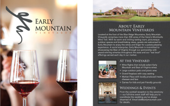 Rack Card Design  for Early Mountain Vineyards