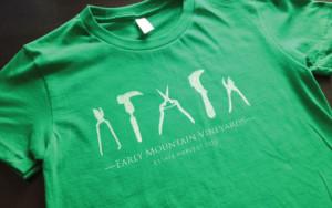 Early Mountain Vineyards T-Shirt Design