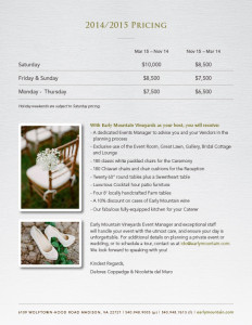 Early Mountain Vineyards Brochure Design