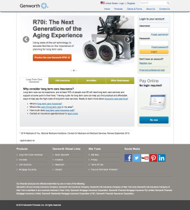 Genworth Financial website design