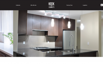 Website Design & Development  for Keek Cabinets