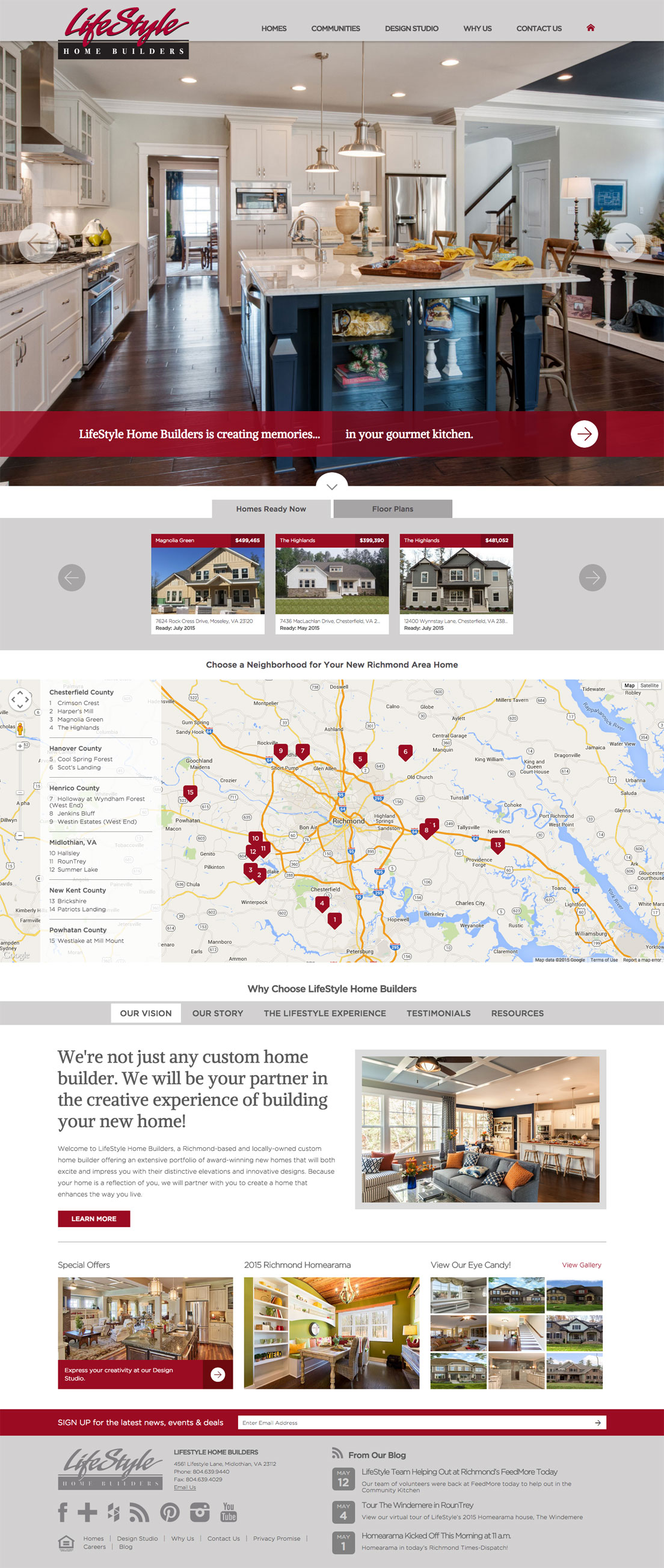 Lifestyle Home Builders Website Design Randall Branding