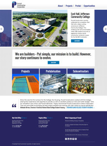Purcell Construction Corporation website design