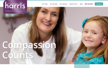 Website Design  for Sharon Freeland Harris Dentistry