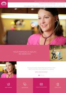 vpfw homepage website design