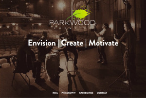 Parkwood Creative website design