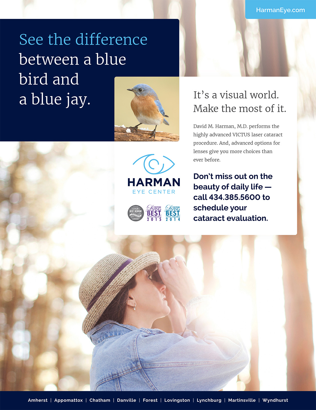 Print Ad for Harman Eye Center