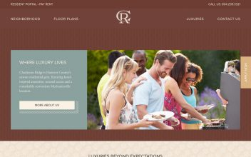 Website Design & Development  for Charleston Ridge Apartments