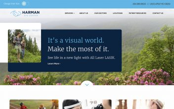 Website Design & Development  for Harman Eye Center