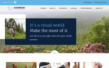 Website Design & Development  for Harman Eye Center