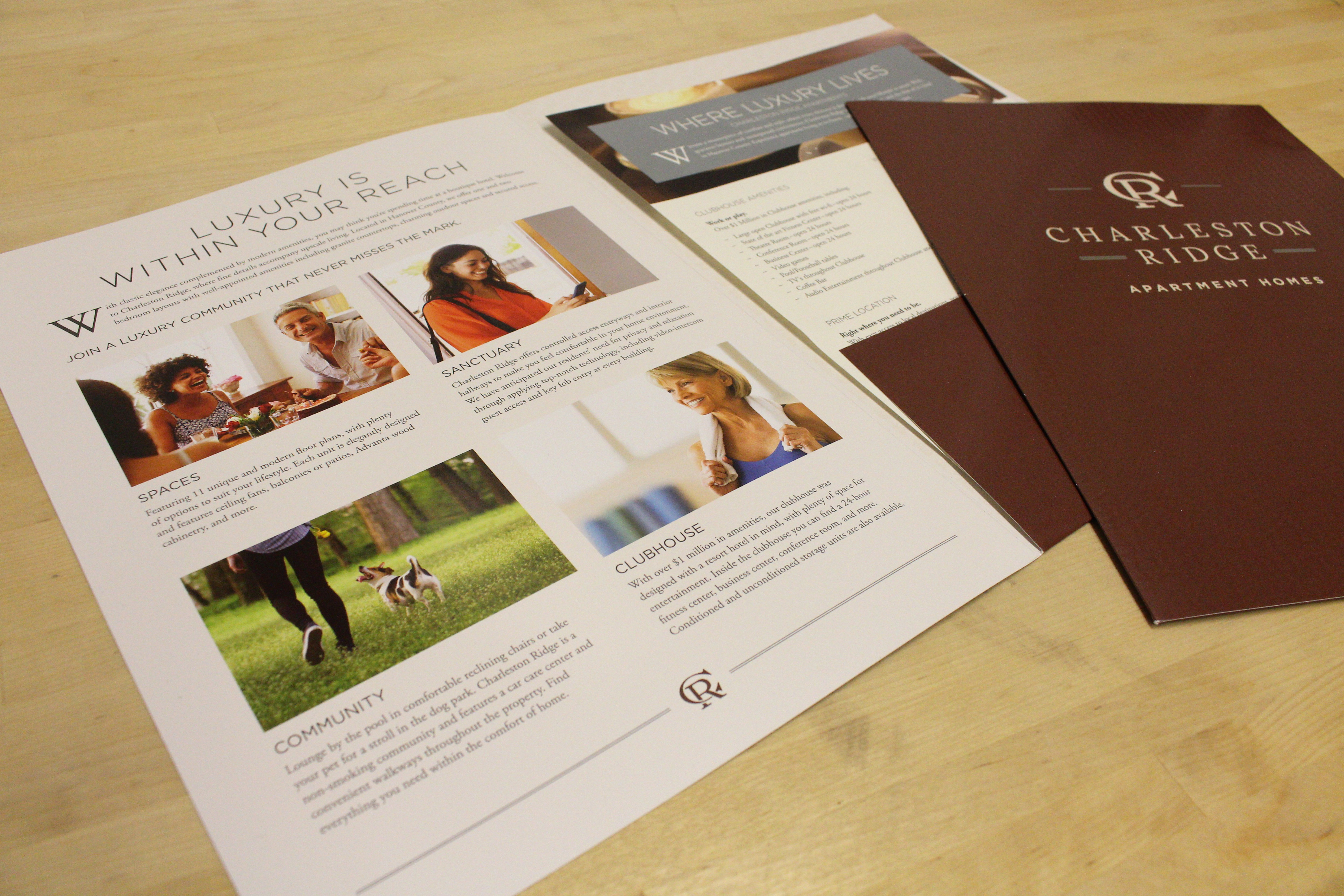 Pocket Brochure Design for Charleston Ridge Apartments