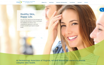 Website Design & Development  for Dermatology Associates of Virginia