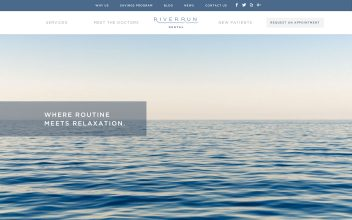 Website Design  for River Run Dental