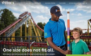 Website Design  for Ukrop's Threads