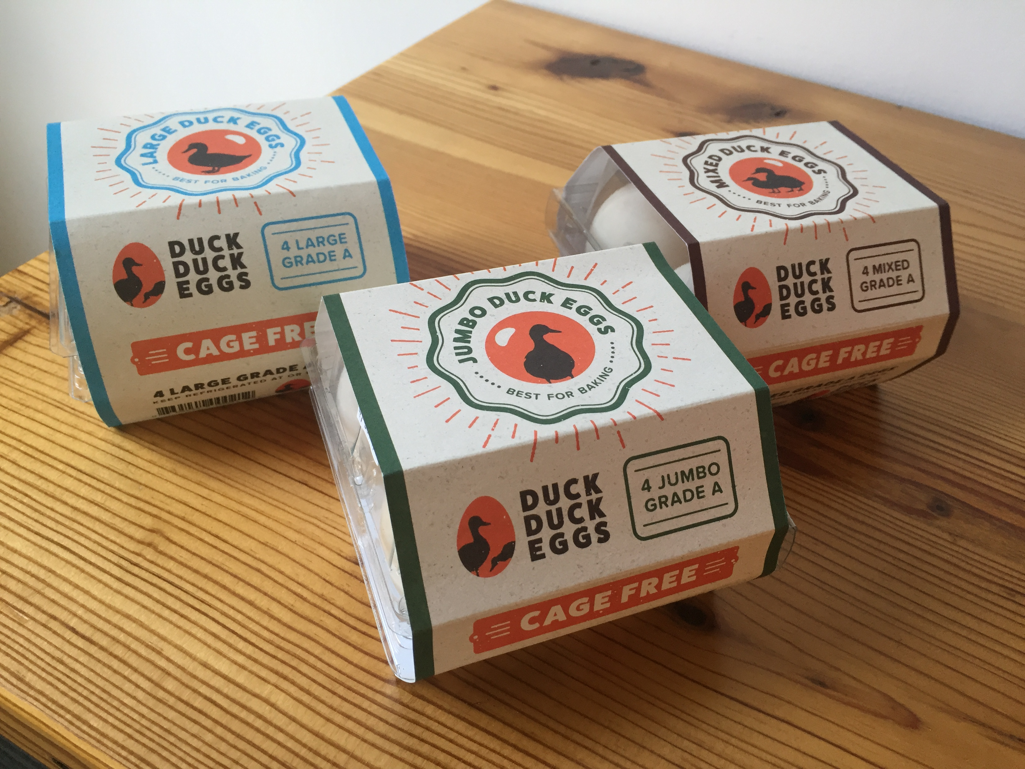Packaging for Duck Duck Eggs