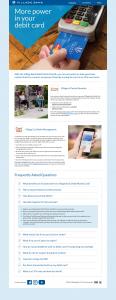 Village Bank Debit Card Landing Page