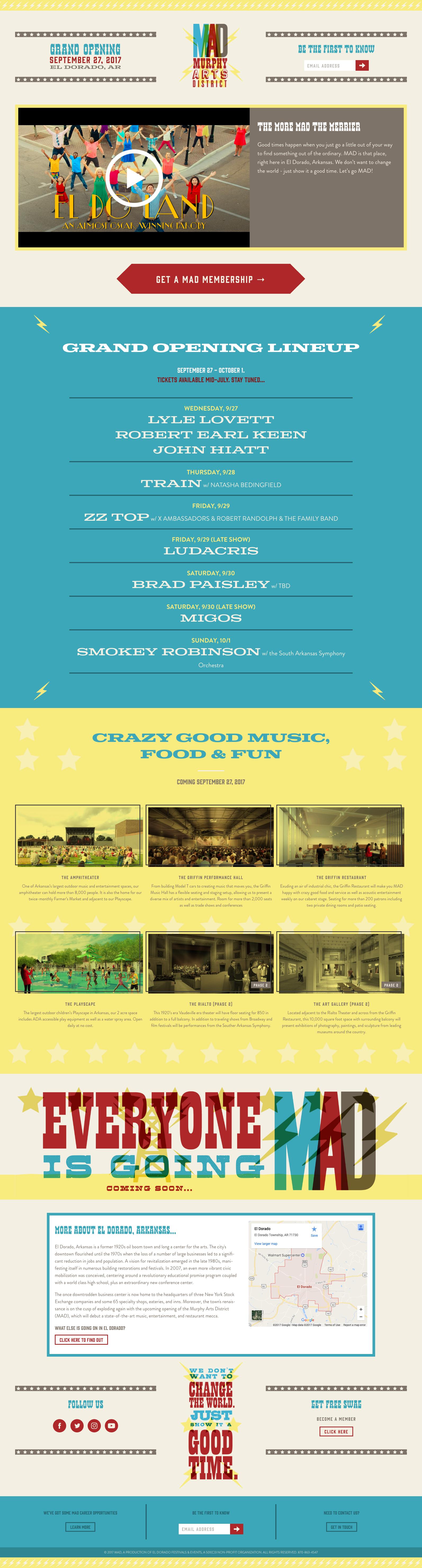 Website Design & Development for El Dorado Festival & Events
