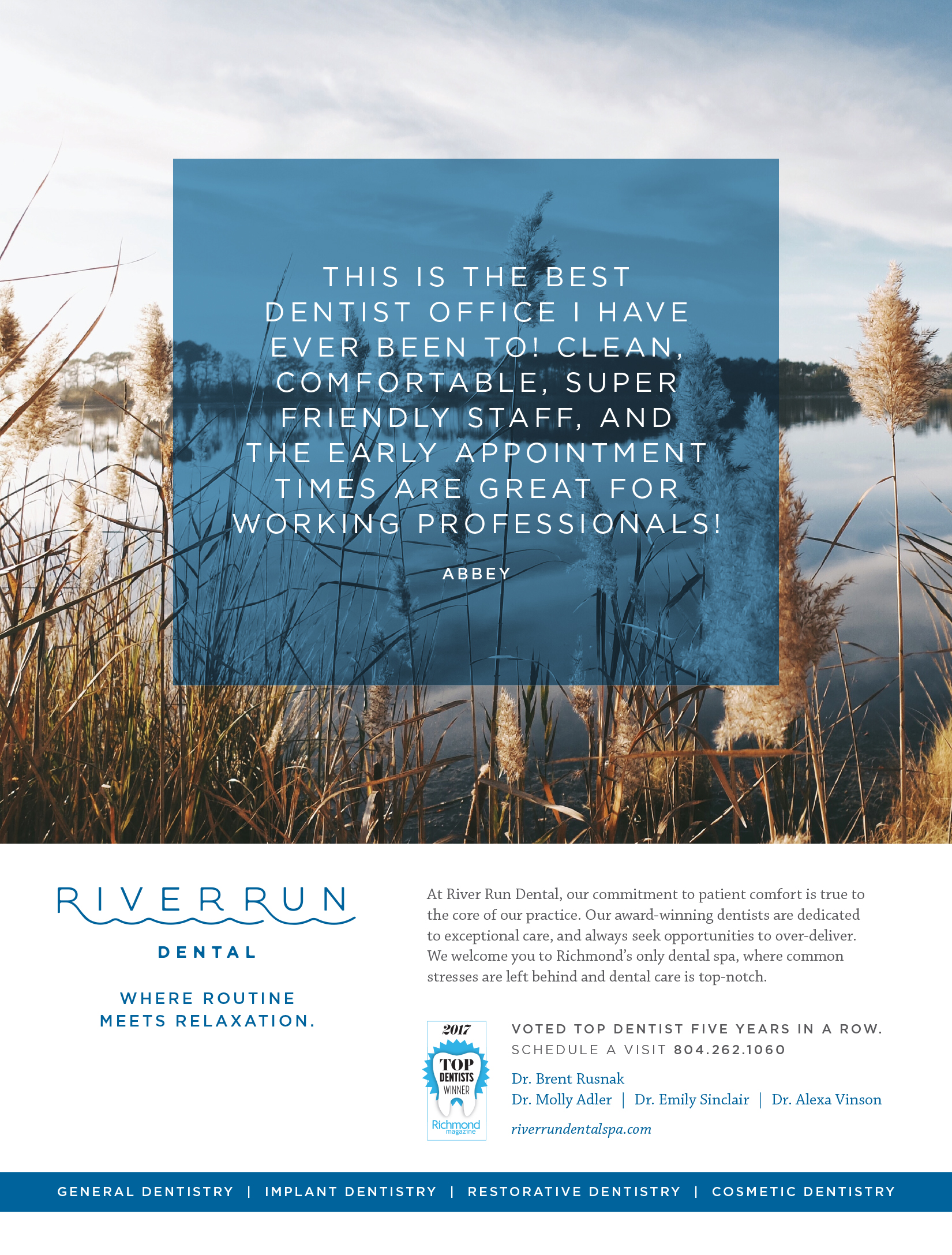 Print Ad for River Run Dental Spa