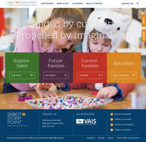 Sabot at Stony Point School Website Design