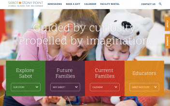 Website Design & Development  for Sabot at Stony Point