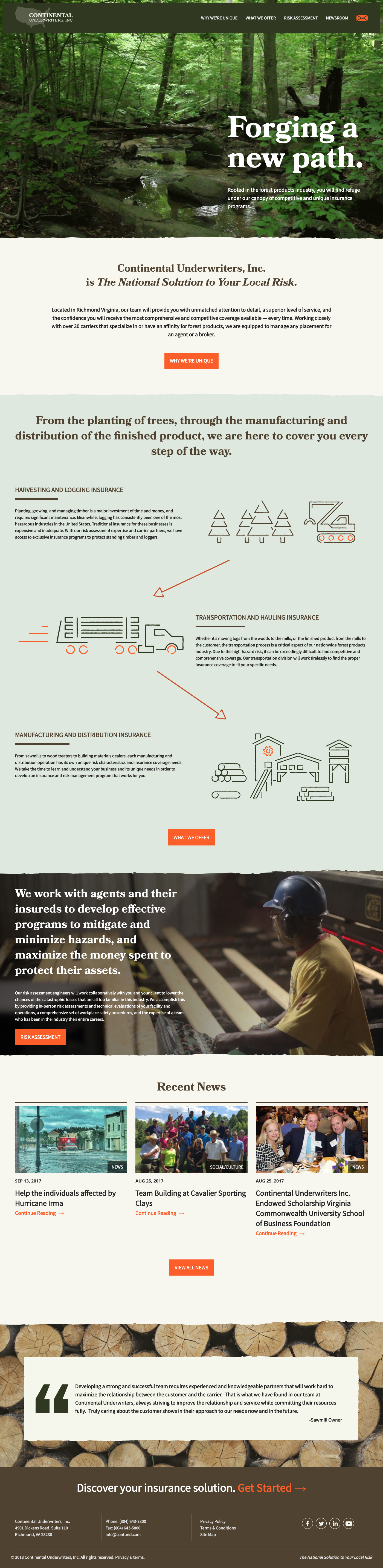 Website Design & Development for Continental Underwriters