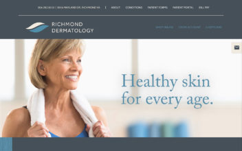 Website Design & Development  for Richmond Dermatology