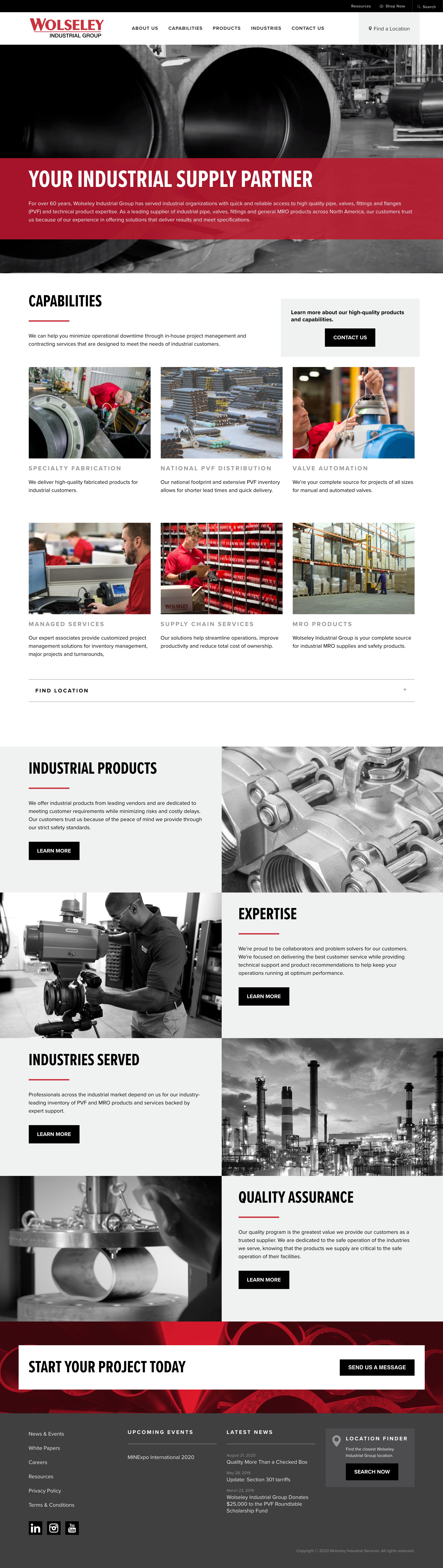 Website Design & Development for Wolseley Industrial Group